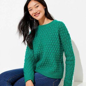 NWT LOFT Women's Bobble Stitch Sweater